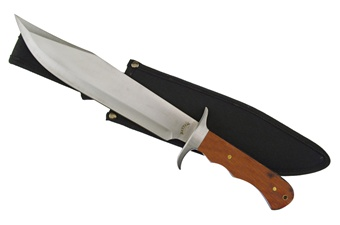 "18-317PW BOWIE PAKAWOOD W/SH 15"" [Frost Cutlery]"