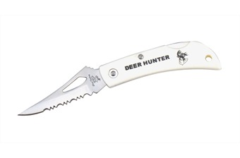 "18-483DH DEER HUNTER WHITE W/DEERHEAD 3"" [Frost Cutlery]"