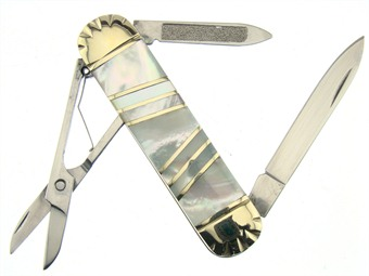 how to make a pocket knife out of scissors