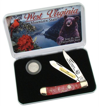 "SET-312WV WEST VIRGINIA STATE QTR. 4 1/8"" [Frost Cutlery]"