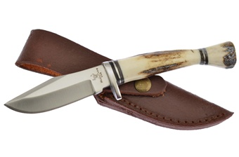 "WT-928DS 7"" STAG BOWIE W/LTHR SH [Whitetail Cutlery]"