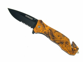 "YC-434OC 4.5"" ORANGE CAMO RESCUE [Frost Cutlery]"