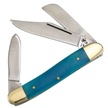 14-797CBSB WRANGLER CANCUN BLUE SMTH 3 7/8 [Frost Cutlery • Pocket Knives]