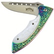 "18-809 4.5"" RAINBOW TIT/FAUX PEARL FLDR [Frost Cutlery • Tacticals & Folders]"