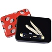 72838 CASE MINI TRAPR.BLUE PICK W/TIN [Case • Pocket Knives • Premium Knives]