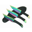 A-4303-RW SKY HAWK 3PC RAINBOW THROWERS [Skyhawk • Fixed Blades • Throwing Knives]