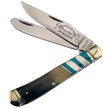 "BB-108OXBP 4.25"" OX HORN/BLUE/MOP TRAPPER [Bear N Bull • Pocket Knives]"