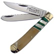 "BB-108OXGP 4.25"" OX HORN/GREEN/MOP TRAPPER [Bear N Bull • Pocket Knives]"