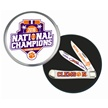 CU16-812SB CLEMSON NAT.CHAMP.SW108 W/RNDTIN [Frost Cutlery • Collectors' Items • Commemorative Sets]