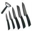 HRI-016 6PC. BLK CERAMIC KITCHEN SET [Hen & Rooster • Kitchen Sets]