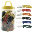 JAR72 72PC.ASSORTED POCKET KNIVES/JAR [Frost Cutlery • Tacticals • Lightweight]