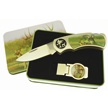 KN-1229DR DEER KNIFE & MONEY CLIP [Frost Cutlery • Gift Sets]