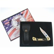 NRA-BU110 NRA BUCK WD.HDL.LKBCK.W/DSPLY&SH [Buck Knives • Collectors' Items • Licensed Properties]