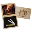 SET-812CRST NATIVITY TRPR & WOOD BOX SET [Frost Family • Collectors' Items • Holiday Items]