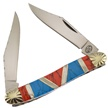 "SHS-572R/BL MUSKRAT STONE RED/BLUE 3 7/8"" [Silverhorse • Pocket Knives]"