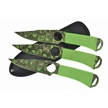 "TA-094 3PC THROW SET SS BLD NYL SH 8""OV [Tac Assault • Fixed Blades & Hunters • Throwing Knives]"