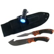 TDH240-3PCB 3PC SURVIVAL SET ORN CAMO W/SH [Frost Cutlery • Fixed Blades & Hunters • Survival ]