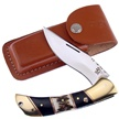 "TS-197 5"" STAF/BUFFALO HORN FLD HNTR [Trophy Stag • Fixed Blades & Hunters]"