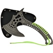 "TX-063G 10"" GRN CORD WRAPPED AXE W/SH [Tac Xtreme • Fixed Blades & Hunters • Axes/Hatchets]"
