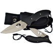 "WT-973B 2PC BOWIE/FLDR COMBO BLK 9""/4.5"" [Whitetail Cutlery • Fixed Blades & Hunters]"