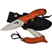 "WT-973OR 2PC BOWIE/FLDR COMBO ORG 9""/4.5"" [Whitetail Cutlery • Fixed Blades & Hunters]"