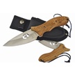 "WT-973ZW 2PC BOWIE/FLDR ZEBRA WD 9""/4.5"" [Whitetail Cutlery • Fixed Blades & Hunters]"